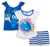 Nannette Girls 2-6x Dory Tees and Shorts Set