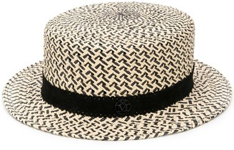 Maison Michel Augusta panama straw canotier hat