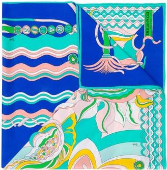 Emilio Pucci Badea Print Silk-Twill Scarf
