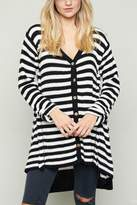 Hayden Los Angeles Stripe Cardigan Sweater