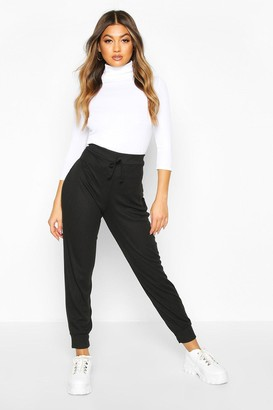 boohoo Ribbed High Waist Loopback Jogger