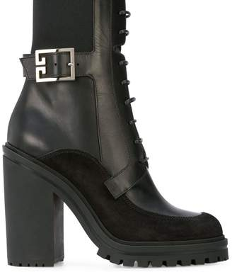 Givenchy High-Heel Combat Boots