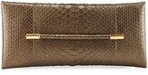 Tom Ford Evening Python Clutch Bag, Dark Green