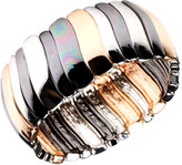 Nine West Bracelet, Tri Tone Stretch Bracelet