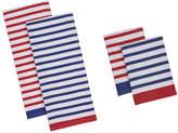 DESIGN IMPORTS Design Imports Nautical Stripe Set of 4 Kitchen Towels and Dishcloths