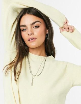 Vero Moda round neck sweater in yellow