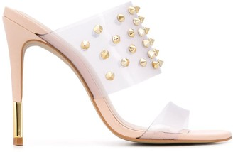 Carvela Ghost studded mules