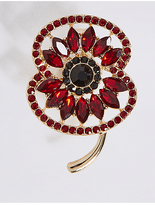 M&S Collection The Poppy Collection® Bejewelled Poppy Brooch