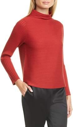 Eileen Fisher Rib Merino Wool Sweater