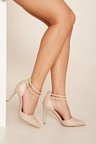 Forever 21 FOREVER 21+ Ankle Strap Stilettos