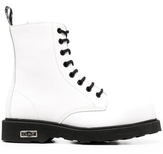 Cult Bolt lace-up combat boots