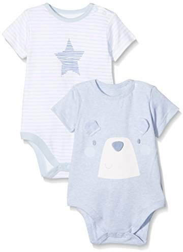 84902f049 Baby Boys' My My First T - Shirt, Pale Blue, (Size: 50 cm)