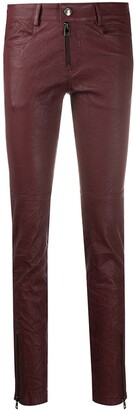 Zadig & Voltaire Phlamo Cuir Froisse skinny trousers