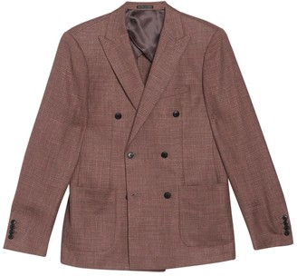 Reiss Recline Peak Collar Double Breasted Jacket