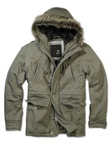 Brandit Men's Vintage Explorer Jacket Short Military Parka Warm Winter Army Coat