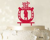"Printtoo ""Mr And Mrs"" Couple Cake Topper Wedding Cake Topper Color Option Available 6""-7"" Inches Wide"