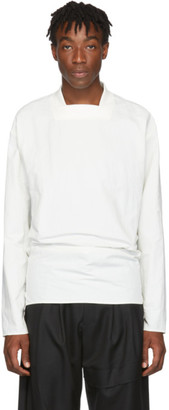 D.gnak By Kang.d White Back Tie Long Sleeve T-Shirt