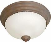 "575 Denim 1 - Light Simple Bowl Flush Mount Volume Lighting Size H x 11"" W x 11"" D, Fixture Finish: Prairie Rock"
