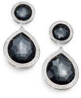 Ippolita Stella Hematite, Diamond & Sterling Silver Two-Stone Drop Earrings