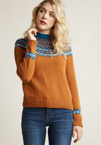 ModCloth Cozy Sweater with Fair Isle Design in 4X