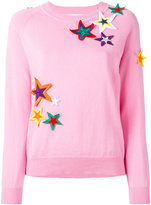 Mira Mikati star patch sweatshirt