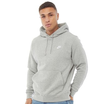 Nike Mens Sportswear Club Fleece Hoodie Dark Grey Heather