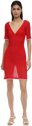 16r Dahlia Ruffled Knit Mini Dress
