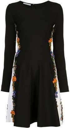 Oscar de la Renta two tone floral dress