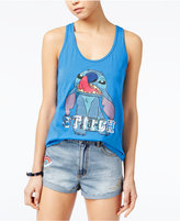 Disney Juniors' Stitch Sequined Graphic Tank Top