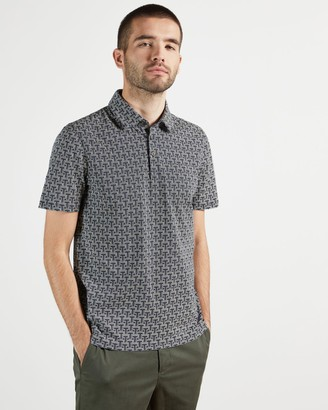 Ted Baker Short Sleeve T Print Polo Top