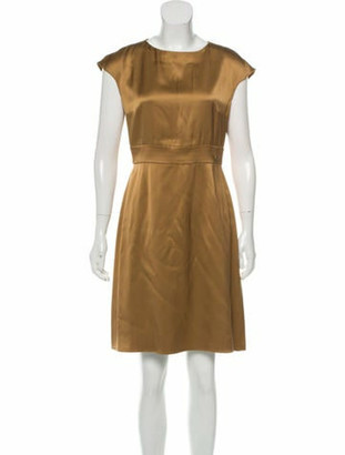 Chanel Paris-Shanghai Silk Dress Gold