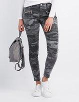 Charlotte Russe Refuge Camo Moto Skinny Jeans