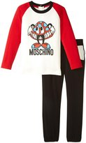 Moschino Mushroom Tee and Pant Set (Toddler) - Black - 2T