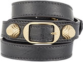 Balenciaga Women's Arena Giant Wrap Bracelet-DARK GREY