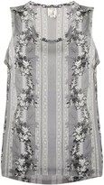 Comme des Garcons Pre Owned 1990's floral print sleeveless top