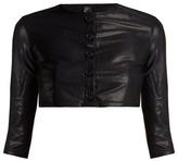 Lisa Marie Fernandez Cropped-sleeve Cardigan - Womens - Black