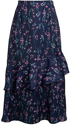 Ava & Aiden Asymmetrical Ruffle Skirt