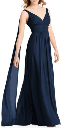 Jenny Packham Streamer Back Chiffon Gown