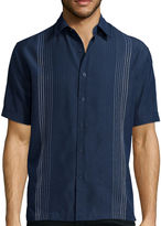 HAVANERA Havanera Co. Short-Sleeve Texture Ombre Button-Front Shirt