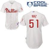 Barbara Kun 51 Carlos Ruiz Jersey Philadelphia Jerseys Baseball Jersey Mens Size XL