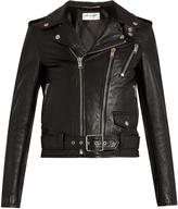 Saint Laurent Blood Luster cropped leather jacket