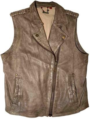 Doma Brown Leather Jacket for Women