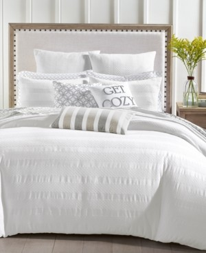 Charter Club Damask Designs Basket Stripe Cotton 2-Pc. Twin Duvet Set, Created for Macy's Bedding