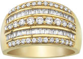 JCPenney MODERN BRIDE 1 CT. T.W. Baguette & Round Diamond 10K Yellow Gold Ring
