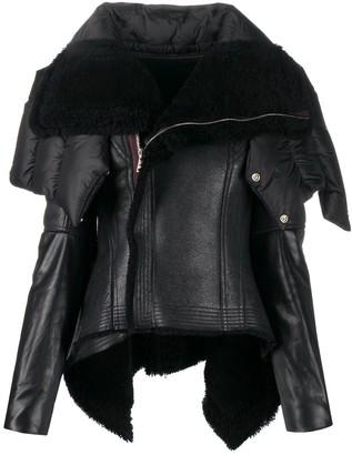Rick Owens Funnel Neck Shearling Jacket