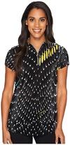 Jamie Sadock - Crunchie Habu Print Short Sleeve Top Women's Clothing