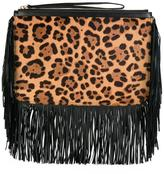 Pierre Hardy leopard print clutch - women - Calf Leather/Calf Hair - One Size