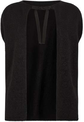Marina Rinaldi Knitted Tie-Front Cardigan