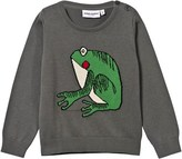 Mini Rodini Frog Knit Sweater Grey Melange