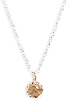 Anna Beck Small Hammered Disc Pendant Necklace
